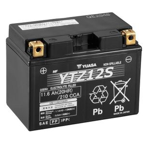 Yuasa YTZ12S High Performance MF Motorcycle Battery