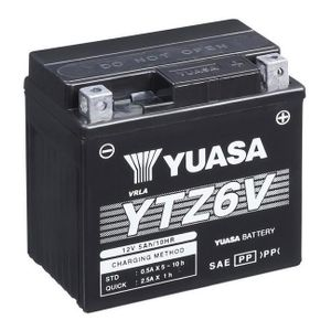 Yuasa YTZ6 High Performance MF Motorcycle Battery