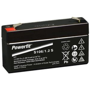 S112/1.2 S Powerfit Battery 12V 1.2Ah (NAS11201D2VW0SA)