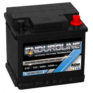 012 Enduroline AGM Start Stop Car Battery 12V 50AH