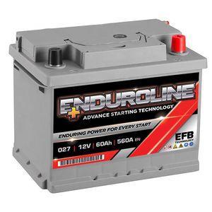 027 EFB Enduroline Start Stop Car Battery 60Ah