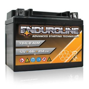 YB4L-B GEL Enduroline Advanced Motorcycle Battery 12V 4Ah
