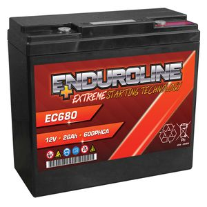 Enduroline EC680 AGM Battery 26Ah 600A (PC680)