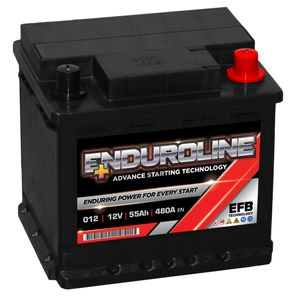 012 EFB Enduroline Start Stop Car Battery 55Ah