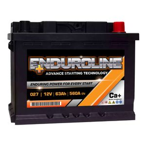 027 Enduroline Car Battery 63Ah