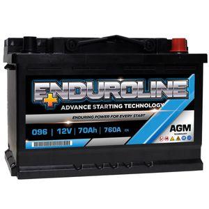 096 Enduroline AGM Stop Start Car Battery 12V 70Ah