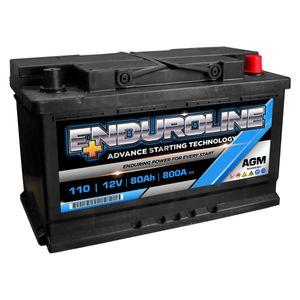 110 Enduroline AGM Car Battery 80Ah
