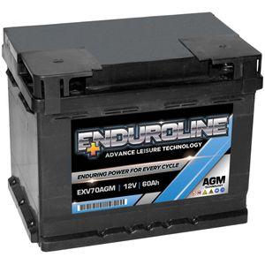 EXV70AGM Enduroline AGM Leisure Battery 60Ah