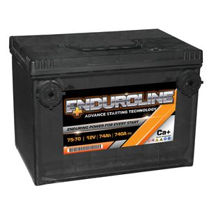 75-70 Enduroline Side Terminal Car Battery 12V 74AH