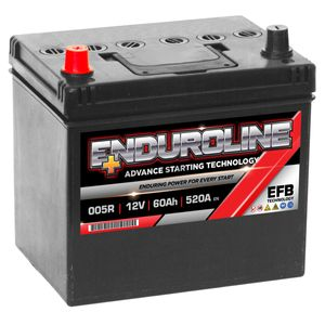 005R EFB Enduroline Start Stop Car Battery 60Ah