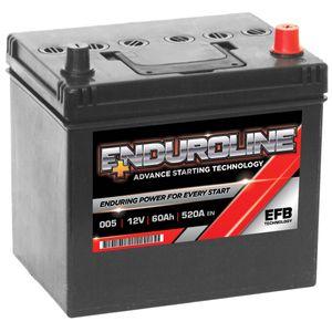 005L EFB Enduroline Start Stop Car Battery 60Ah