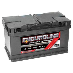 110 EFB Enduroline Start Stop Car Battery 75Ah