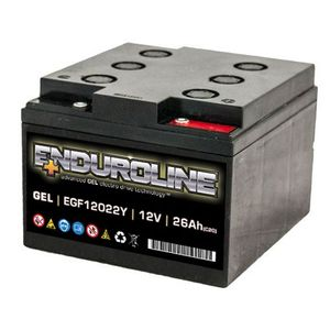 EGF12022Y Enduroline GEL Battery 12V 26Ah