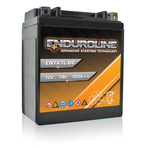 ENTX7L-BS Enduroline Advanced Motorcycle Battery 12V 7Ah