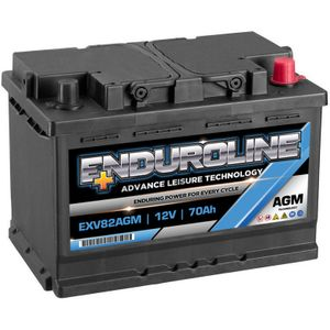 EXV82AGM Enduroline AGM Leisure Marine Battery 12V 70Ah