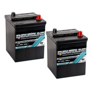 Pair of 421 Enduroline 6V Classic Car Batteries 80Ah
