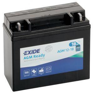 AGM12-18 Exide Batterie De Moto 12V (4584)