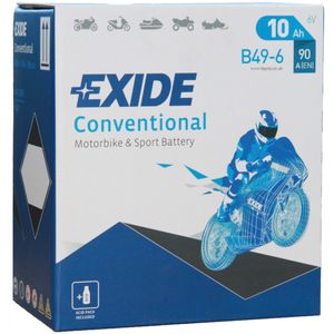 Exide B49-6 6V Conventional Motorcycle Battery