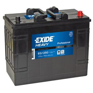 W655SE Exide Heavy Duty Commercial Professional Battery 12V 125Ah EG1250