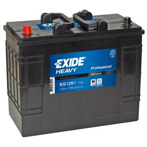 W656SE Exide Heavy Duty Commercial Professional Battery 12V 125Ah EG1251