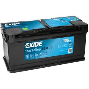 Exide 020 AGM Car Battery 105Ah EK1050