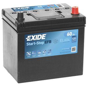 Exide 005L EFB Car Battery 60Ah EL604