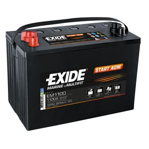 EM1100 Exide Marine and Multifit START AGM Battery