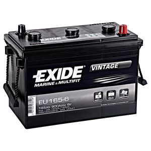 EU165-6 Exide Vintage Marine and Multifit Leisure Battery