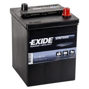 EU80-6 Exide Vintage Marine and Multifit Leisure Battery