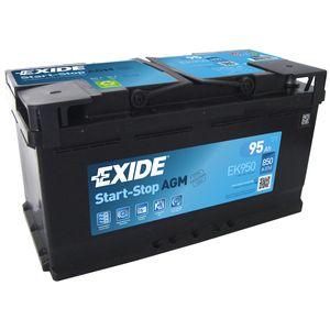 Exide 017 AGM Car Battery 90Ah AGM900 EK900