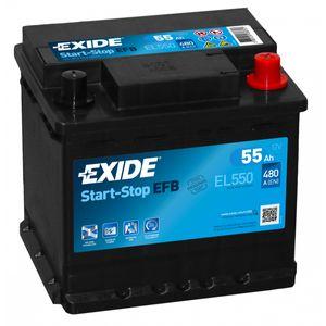 Exide 012 EFB Car Battery 55Ah EL550