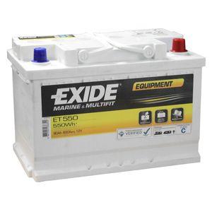 ET550 Exide Equipment Leisure Battery 12V 80A