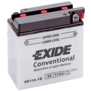 Exide 6N11A-1B 6V Conventional Motorcycle Battery