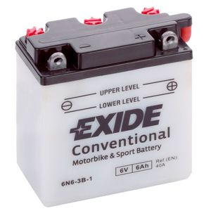 Exide 6N6-3B-1 6V Conventional Motorcycle Battery