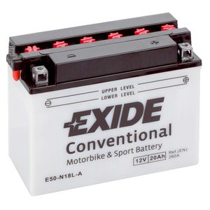 Exide E50-N18L-A 12V Conventional Motorcycle Battery