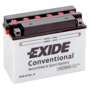 Exide E50-N18L-A 12V Conventional Batterie De Moto