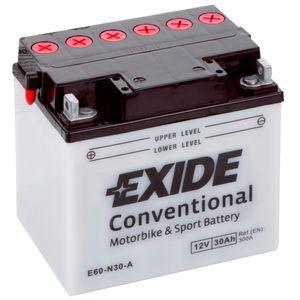 Exide E60-N30-A 12V Conventional Batterie De Moto