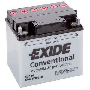 Exide E60-N30L-B 12V Conventional Batterie De Moto