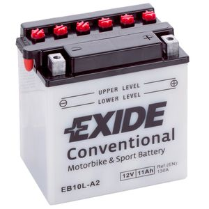 Exide EB10L-A2 12V Conventional Motorcycle Battery