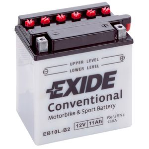Exide EB10L-B2 12V Conventional Motorcycle Battery