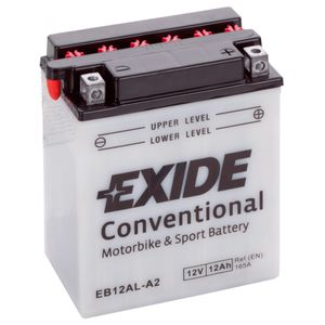 Exide EB12AL-A2 12V Conventional Motorcycle Battery