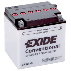 Exide EB30L-B 12V Conventional Motorcycle Battery