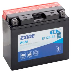 Exide ET12B-BS 12V Motorcycle Battery YT12B-BS