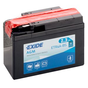 Exide ETR4A-BS 12V Motorcycle Battery YTR4A-BS