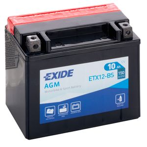 Exide ETX12-BS 12V Motorcycle Battery