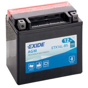Exide ETX14L-BS 12V Batterie De Moto YTX14L-BS