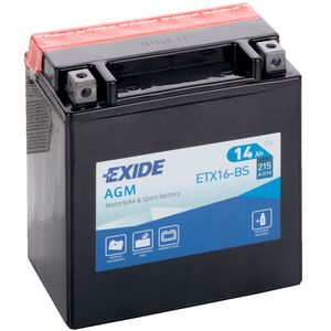 Exide ETX16-BS 12V Motorcycle Battery YTX16-BS