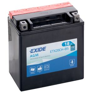 Exide ETX20CH-BS 12V Motorcycle Battery YTX20CH-BS