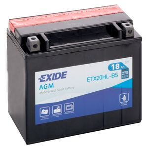 Exide ETX20HL-BS 12V Motorcycle Battery