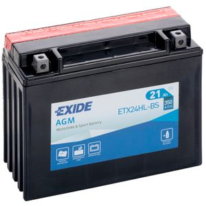 Exide ETX24HL-BS 12V Motorcycle Battery YTX24HL-BS